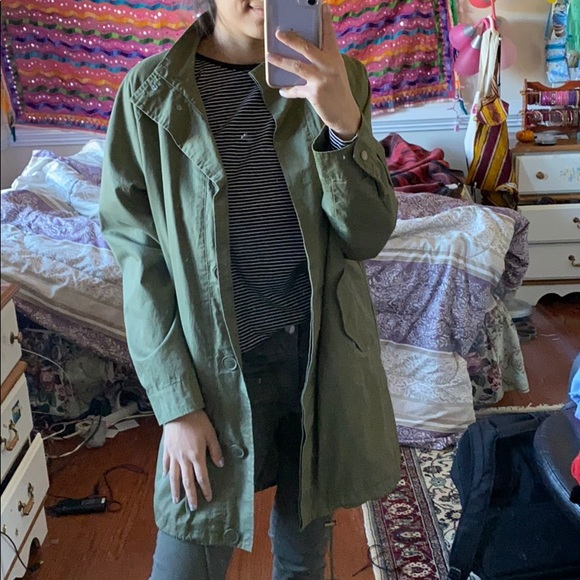 Forever 21 Jackets & Blazers - Green utility jacket
